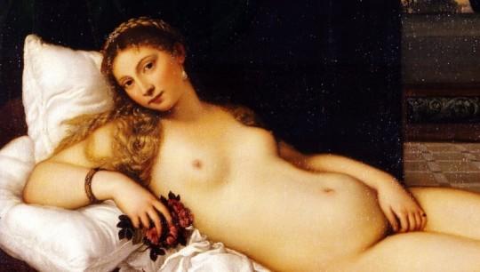La Venere di Urbino è un dipinto a olio su tela (119x165 cm) di Tiziano, databile al 1538 e conservato nella Galleria degli Uffizi di Firenze